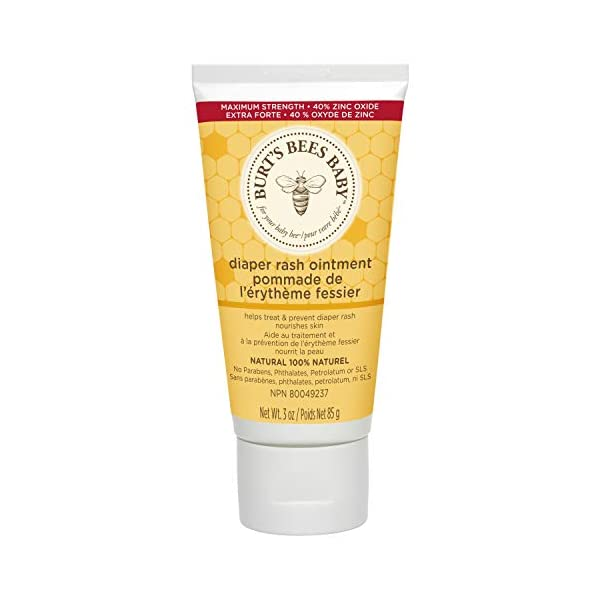Burt's Bees Baby 100% Natural Diaper Rash Ointment – 3 Ounce (Pack of...