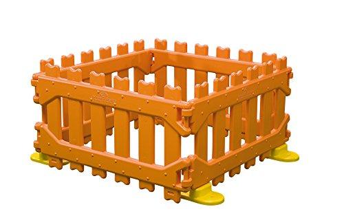 Italveneta Didattica 30200 - Recinzione Play Pen per Area Gioco Bambini, Arancione