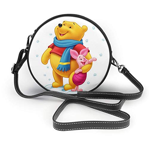 XCNGG Monedero pequeño para teléfono celular Winnie The Pooh Leather Shoulder Bag Travel Daypack Women Girls Party Gift