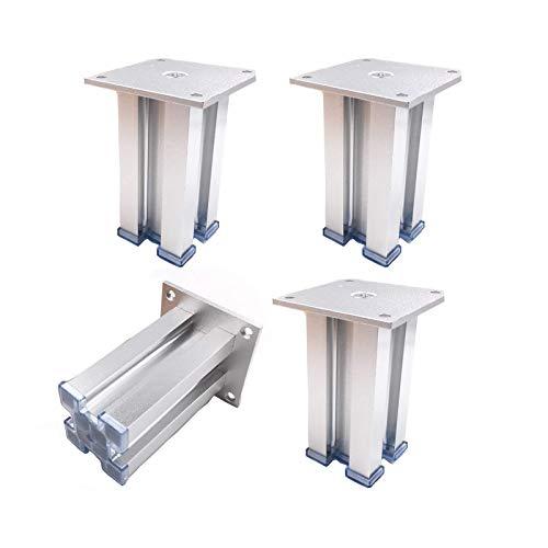 Patas de muebles Patas de mesa DIY Piernas de muebles, patas de metal del gabinete, patas de metal de aluminio, gabinete de la aleación de aluminio Sofá de pie Soporte de soporte Piernas Muebles Aumen