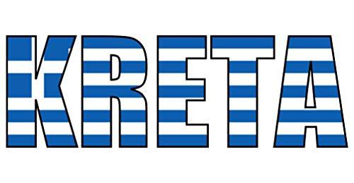Samunshi® Kreta Schriftzug Griechenland Aufkleber in 9 Größen (10x3,4cm Color_Title)