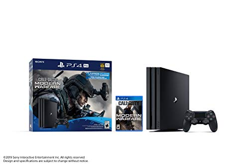 Ensemble Console PS4 Pro 1To avec jeu Call of Duty: Modern Warfare - 1