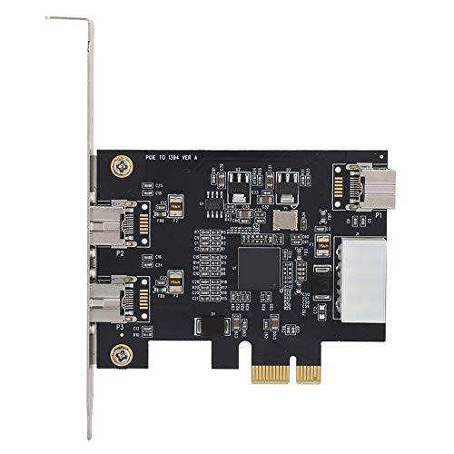 Leftwei Potente Adaptador de Tarjeta controladora, práctica Tarjeta de Captura de Video, Conveniente conexión en Caliente para Disco Duro, Equipo de Audio, cámara DV, cámara Digital
