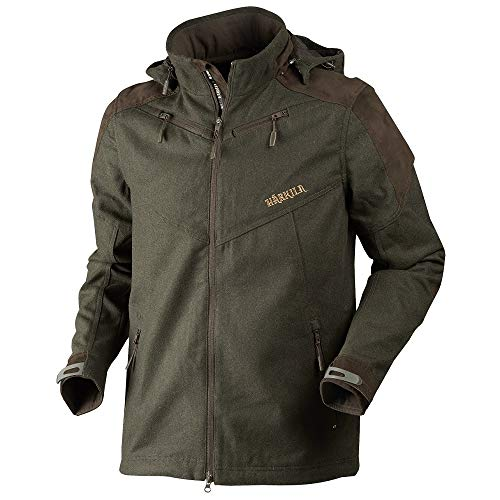 Härkila lautlose Jagdjacke Metso Active mit Bionic Finish® in Willow Green für Herren | wasserdichte Lodenjacke | Jagdanorak | Wolljacke, Größe:50