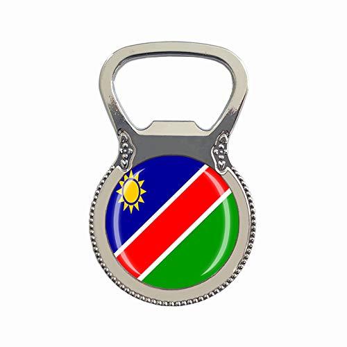 Namibia-Flagge, Bierflaschenöffner, Kühlschrankmagnet, Metall, Glas, Kristall, Reise-Souvenir, Geschenk, Heimdekoration