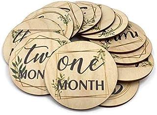 Lasergeschnittenes Holz Baby Monatsschilder Babys Meilensteinkreise Unnow Wood Baby Milestones