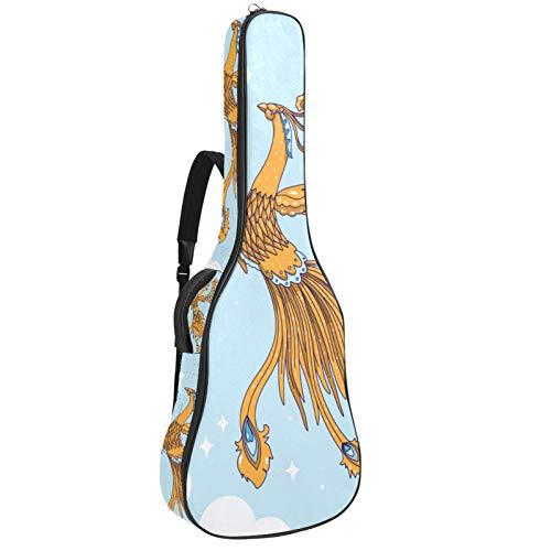 Phoenix And Sky - Bolsa para guitarra (tela Oxford, resistente al agua, con correa de hombro ajustable