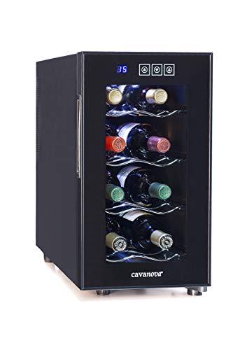 Cavanova · CV008NS · Vinoteca 8 Botellas · Silenciosa · Libre instalación · 4 baldas · Tº 8º-18ºC [Clase de eficiencia energética B]