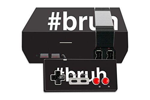 MightySkins Skin Compatible with Nintendo NES Classic Edition – Bruh | Protective, Durable, and Unique Vinyl Decal wrap Cover | Easy to Apply, Remove, and Change Styles | Made in The USA