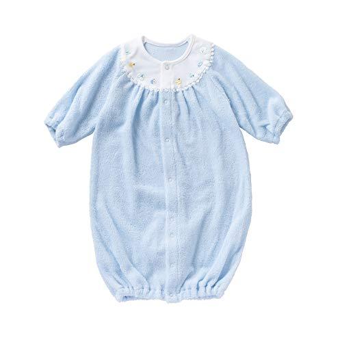 OP-mini 甘撚りパイル ツーウェイオール オールシーズン [股スナップ付け替え/2way] 新生児 赤ちゃん 日本製 50-70cm (ブルー)