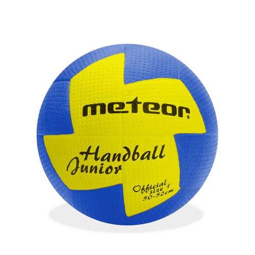 meteor® Nuage Handball Kinder Jugend Damen ideal auf die Kinderhände abgestimmt idealer Handbälle für Ausbildung weicher handballen mit griffiger Oberfläche (Jugend #1 (50-52 cm), Blau/Gelb)