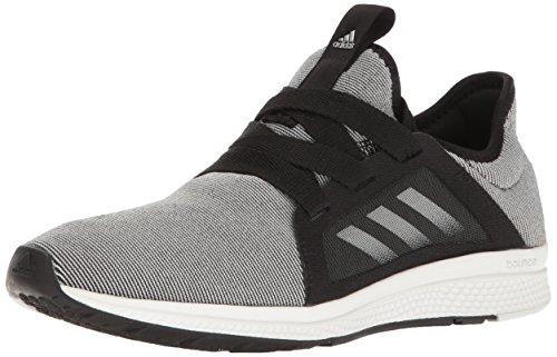 adidas Women's Edge Lux Running Shoe, Black/White/Metallic/Silver, 10 M US