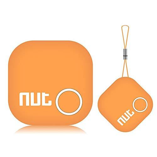 Tile Key Finder Locator Smart Tracker - Nut 2' Bluetooth Item Anti-Lost Phone Finder with App, Item Car Key GPS Alarm Tracer Reminder Chip for Bag Phone Pets Dog Keychain Wallet Purse Luggage, Orange