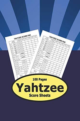 Yahtzee Score Sheets - 100 Pages: Pocket Small Size