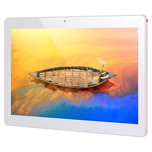 Tablet de 10 pulgadas Android 8.1 Tablet PC Qimaoo 3G Tablet con 1 GB RAM Quad Core 16 GB ROM IPS HD (1280 x 800), Dual SIM/cámara 2MP + 5MP, compatible con Wi-Fi/GPS/Bluetooth/OTG