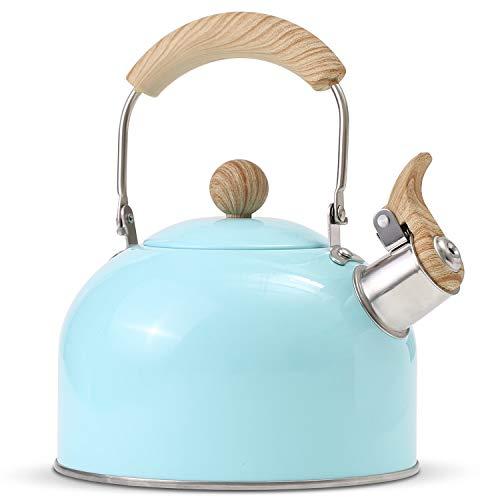 tea kettle stovetop blue - 2