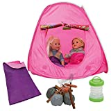 american camper lantern - Beverly Hills Doll Collection Camping Out 15 Piece Pretend Playset for 18 Inch Dolls with Pop-up Tent, Firewood, Hotdog, Sausage, Light-up Lantern and Sleeping Bag