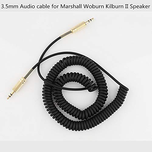 3.5mm Replacement Audio AUX Cable Coiled Cord for Marshall Woburn Kilburn II Speaker Male to Male Jack