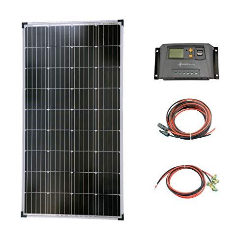 solartronics Komplettset 1x130 Watt Solarmodul Laderegler...