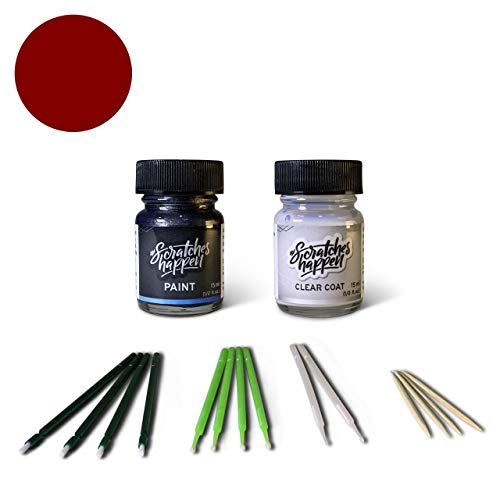 ScratchesHappen Exact-Match Touch Up Paint Kit Compatibel met Lexus Bordeaux/Wijn Rood (3L4) - Essential