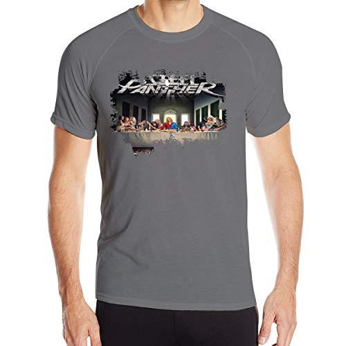 Camisetas de Manga Corta para Hombre con Estampado de Pantera de Acero Camisetas de Cuello Redondo de Secado rápido