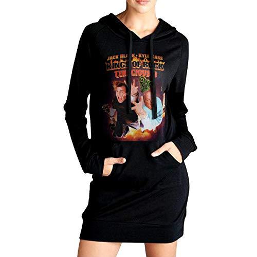 Kings of Rock Tenacious D Frauen Hoodie Mit Kapuze Seitentaschen Mode Lässig Lange Hoodie Sweatshirts L