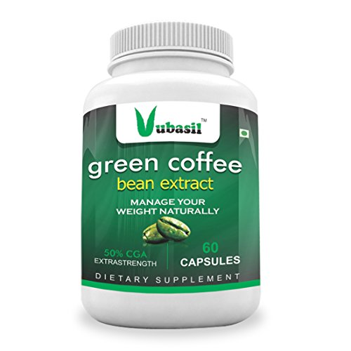 Vubasil Green Coffee Weight Management Supplement with 800 mg GCA – 60 Capsules Pack