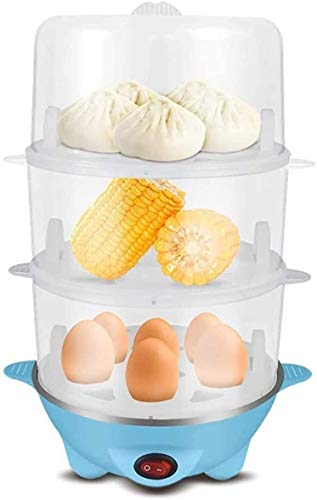 DKee Huevo Cocina de Huevo de Vapor de Huevo de Huevo 3 en 1 Cocina de Huevo eléctrica Inoxidable Duradera, Caldera, Tortilla Poacher, Interruptor de un Solo botón, protección de Doble Apagado