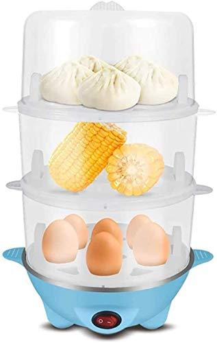 DKee Egg Boiler Egg Boilers Egg Steamer Egg Cooker 3 in 1 Durable Stainless Electric Egg Cooker, Boiler, Poacher Omelette Maker,one-Button Switch, Double Power-Off Protection (Color : Parent)