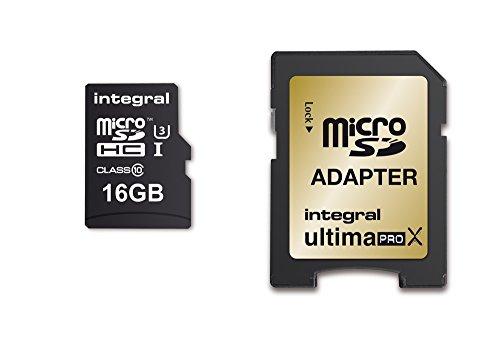 Integral INMSDH16G10-95/90U1 UltimaPro X Scheda di Memoria Micro SDHC, 16 GB, Nero