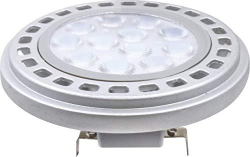 AR111 LED Leuchtmittel 12W G53 3000K Warmweiss 12V 900lm Silber
