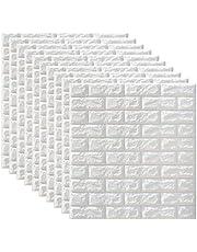 BESPORTBLE 10 Piezas de Paneles de Pared de Ladrillo Blanco en 3D Pelar Y Pegar 38X35cm Papel Tapiz para Salón Dormitorio Fondo de Pared Decoración de Arte