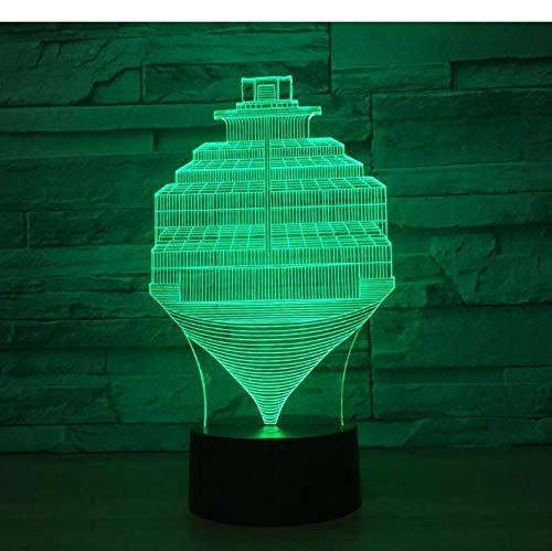 Veilleuse 3D Colorée Steps Abstract Lamp Usb 7 Changement De Couleur Touch Switch Led Lampe De Chambre À Coucher D'Intérieur Lampe De Soirée Cadeau D'Anniversaire Décoration De noël