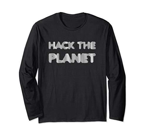 Hack The Planet Geschenke für Hacker und Programmierer #1 Langarmshirt