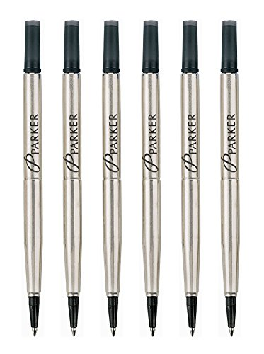 Parker Quink Ink RollerBall Fine Point Black Ink Refill 6 Refills 3021331