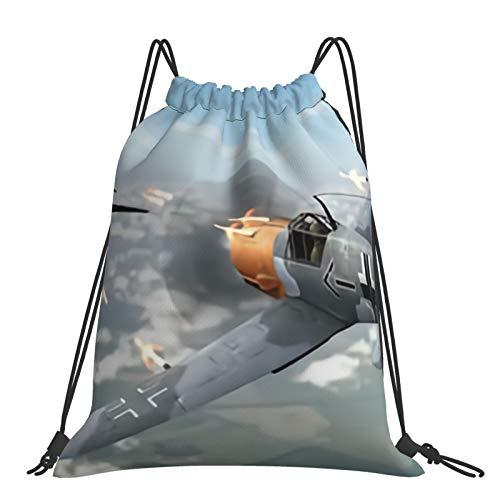 Nicegift Luchador con Super Ocean Spitfire Mochila portátil con cordón,liviana y conveniente,con bolsillo impermeable grande