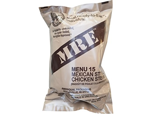 Ultimate 2018 US Military MRE Complete Meal Inspection Date January 2018 or Newer (Mexican Style Chicken Stew)
