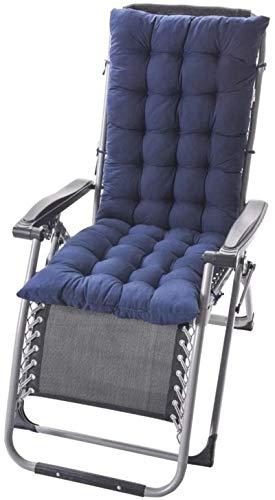 HZWLF Cojín para Tumbona Cojín reclinable, Cojín reclinable Espesar Cojín para Silla Mecedora Plegable Sección de otoño e Invierno Cojín cálido Cojines para sillas de jardín 125 * 48 * 8 cm