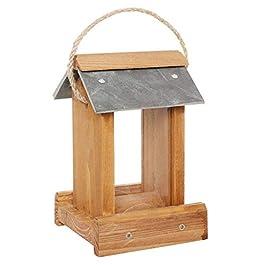 Dibor Wooden Outdoor Garden Bird Seed Feeder Bird House