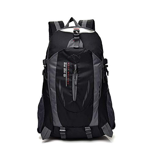 Cicilin Lightweight Hiking Backpack 40L Multi-Functional Water-Resistant Casual Camping Trekking Rucksack for Cycling Travel Climbing Mountaineer Outdoor Sport (Black)