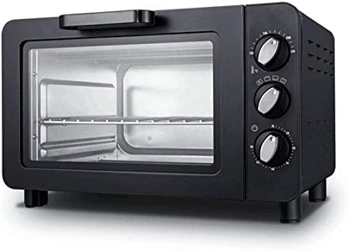 15 l Capacidad interior Mini horno con bandeja para hornear, rejilla de alambre y rotación (60-230 ° C), 1200 W, mini horno de convección Hornear eléctrico Hornee, púrpura