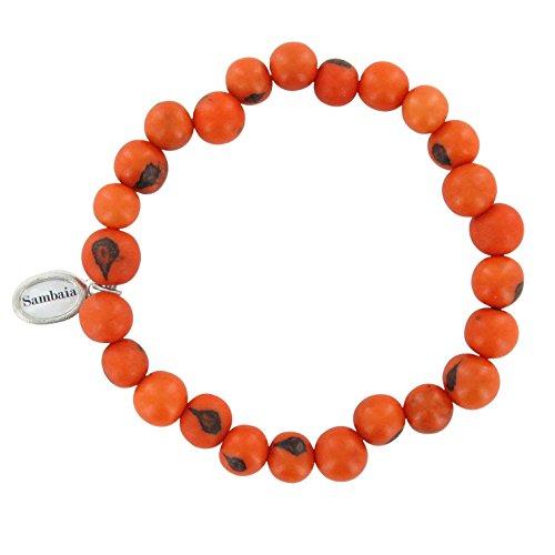 Sambaia Armband aus Acai Samen, in vielen Farben erhältlich, original, orange