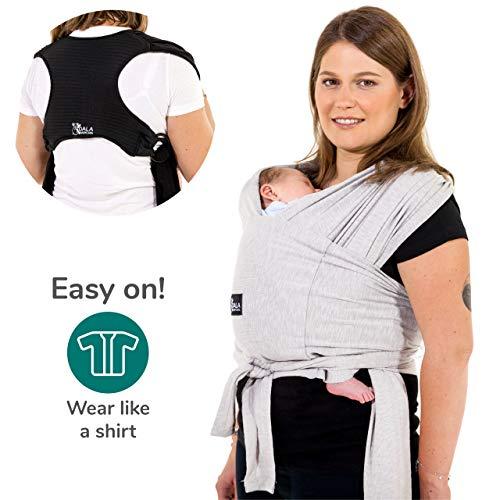 Koala Babycare® - Fular Portabebés fácil de usar (fácil de colocar), unisex ajustable, la mochila portabebes multiusos apropiada hasta 10 kg. Fular portabebés elastico - Diseño Registrado KBC®