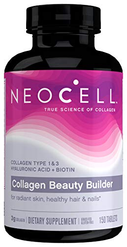 NeoCell Collagen Beauty Builder, for Radiant Skin, Healthy Hair & Nails  150 Tablets (Package May Vary)