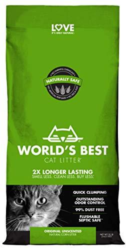 WORLD'S BEST CAT LITTER Original Unscented, 32-Pounds