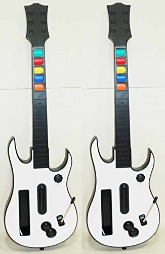 2x Aftermarket Nintendo Wii-U/Wii Rock Band 3 GUITAR ONLY Controller Green Day 2 Beatles
