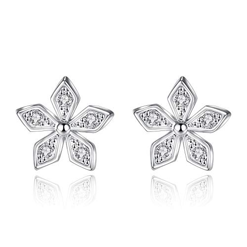 Earring 925 Sterling Silver Plum Zircon Crystal Stud Earrings For Women Gift Sterling-silver-jewelry Brincos boucle d'oreille VES6237