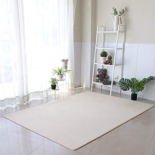 alfombras de habitacion Pelo Corto para Sala de Estar de Color sólido Rectangular Utilizada para Muebles de Dormitorio de Sala de Estar decoración clásica Antideslizante-GRAMO_120 x 200 cm