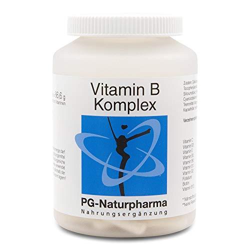 Vitamin B Complex vegano - 120 cápsulas veganas y de dosis alta con todas las 8 vitaminas B - vitamina B12, biotina, ácido fólico - también con vitamina C y vitamina E