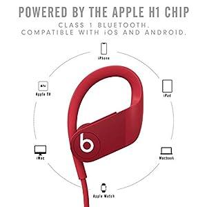 Beats by Dre Powerbeats High-Performance Wireless Earphones - Red - MWNX2LL/A (Renewed)